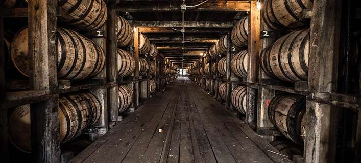 Blick in das Jack Daniel's Barrelhouse in Lynchburg