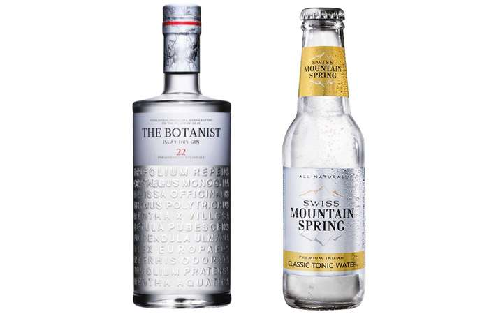 The Botanist Gin + Swiss Mountain Spring Classic Tonic Water