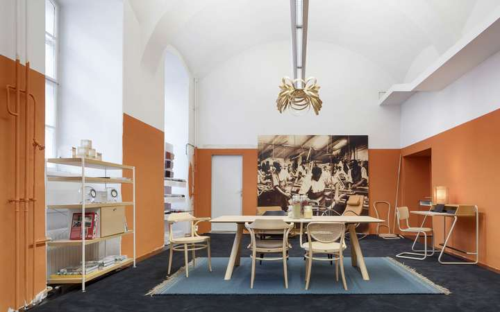 Exklusive Location: das Thonet Pop-Up-Café in der Wiener Innenstadt.
