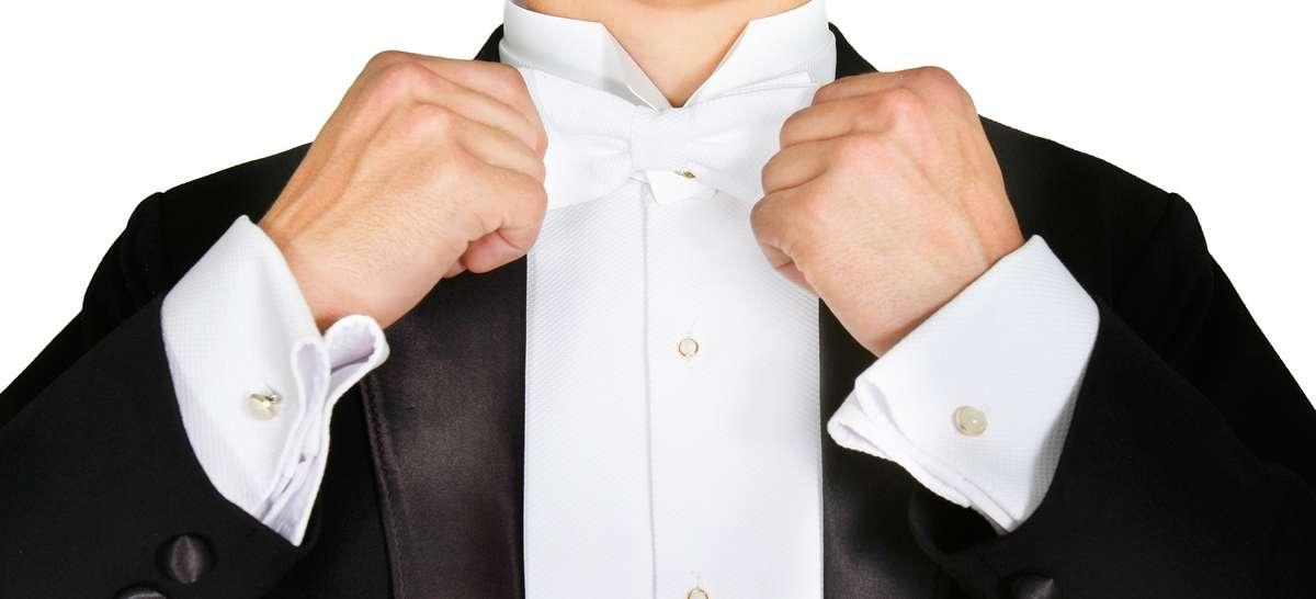 Neu Herren Schwarz Abend Weiß Krawatte Frack Paket Frack Hose Weste Fliege